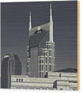 Nashville Tennessee Batman Building Wood Print