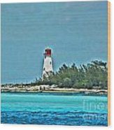 Nassau Bahama Lighthouse Wood Print