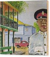 Nassau Bahamas Policeman Wood Print