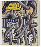 Nassau Junkanoo 1 Wood Print by Philip Slagter