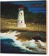 Nassau Lighthouse Wood Print