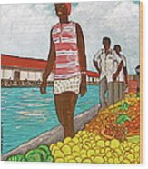Nassau Woman Wood Print
