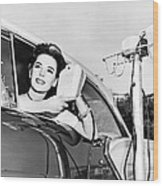 Natalie Wood At A Drive-in Wood Print