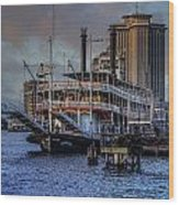 Natches Riverboat Wood Print