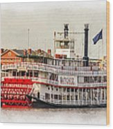 Natchez Sternwheeler Paint Wood Print