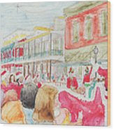 Natchitoches Christmas Parade Wood Print by Ellen Howell