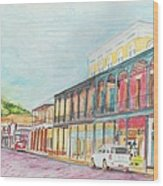 Natchitoches Front Street Wood Print by Ellen Howell