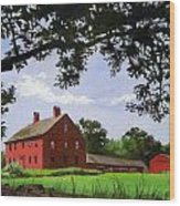 Nathan Hale Homestead Coventry Connecticut Wood Print