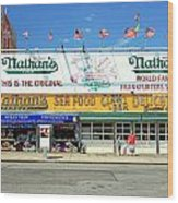 Nathan's Coney Island Wood Print