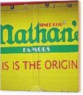 Nathan's Famous Wood Print