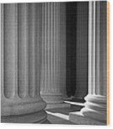 National Archives Columns Wood Print by Inge Johnsson