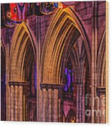 National Cathedral Arches Wood Print