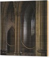 National Cathedral Interior Wood Print