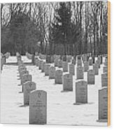 National Cemetery   # Wood Print