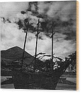 National Famine Memorial The Skeleton Ship By John Behan Wood Print