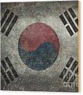 National Flag Of South Korea Desaturated Vintage Version Wood Print