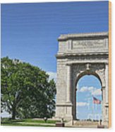 National Memorial Arch At Valley Forge Wood Print