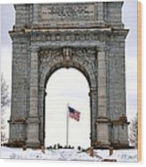 National Memorial Arch Wood Print by Olivier Le Queinec