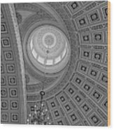 National Statuary Rotunda Bw Wood Print
