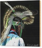 Native American Boy Wood Print
