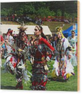 Native American Dancers Wood Print