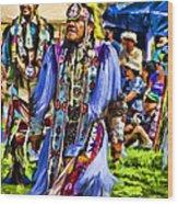 Native American Elder Wood Print