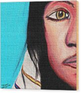 Native American Girl 2 Wood Print