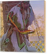 Native American Grass Stomping Dance 20 Wood Print