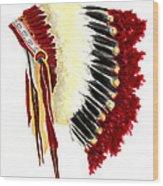 Native American Headdress Wood Print