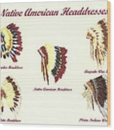Native American Headdresses Number 4 Wood Print
