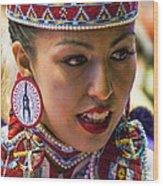 Native American Princess Wood Print