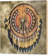 Native American Shield Wood Print