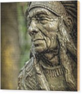 Native American Statue At Niagara Falls State Park Wood Print