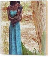 Native American Statue Wood Print