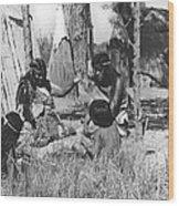 Native American Story Telling Wood Print