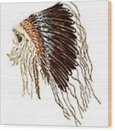 Native American War Bonnet - Plains Indians Wood Print