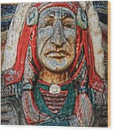 Native American Wood Carving Wood Print