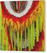 Native American Yellow Feathers Ceremonial Piece Wood Print