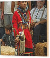 Native American Youth Dancer Wood Print