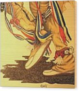 Native Dancer's Feet 1 Wood Print