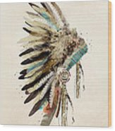 Native Headdress Wood Print