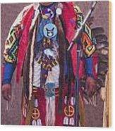 Native Hoop Dancer Wood Print