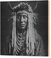 Native Man Circa 1900 Wood Print