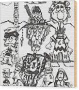 Natives Wood Print