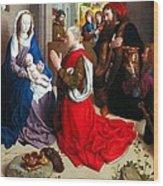 Nativity And Adoration Of The Magi Wood Print