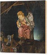 Nativity Angel  Wood Print