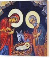 Nativity Feast Wood Print