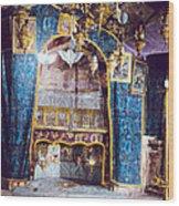Nativity Grotto 1950 Wood Print