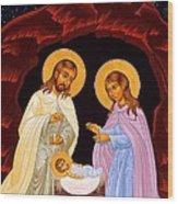 Nativity Night Wood Print