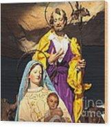 Christmas Nativity Scene Wood Print